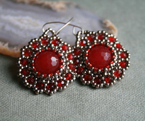 beads, statement earrings, and gemstone earrings image