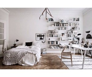 bedroom, book, and inspire image