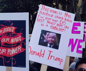 women's march, mean girls, and protest image