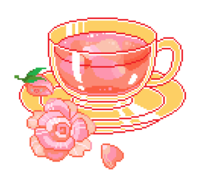 pixel, editing, and tea image