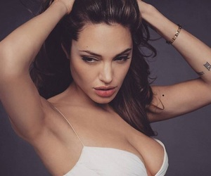 Angelina Jolie, sexy, and tattoo image