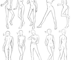anime, how to draw, and body image