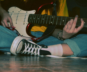 guitar, grunge, and music image