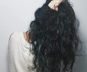 cabelo, curly hair, and girl image
