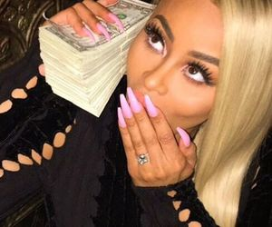 blac chyna, money, and nails image
