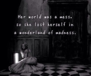 quotes, alice in wonderland, and wonderland image