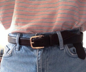 jeans, fashion, and belt image