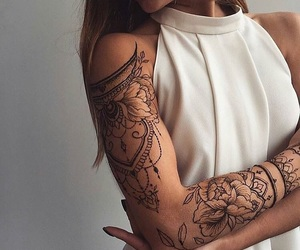 arm, mandala, and cool image