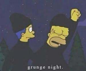 grunge, simpsons, and night image