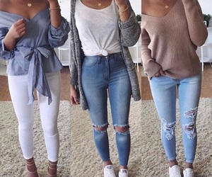 blue, jeans, and mode image