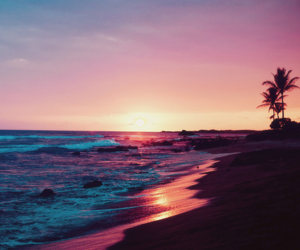 beach, summer, and sunset image