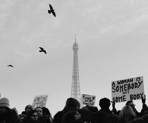 black and white, paris, and women image