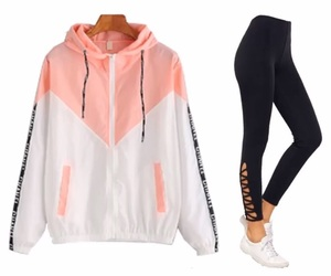 jacket, leggings, and shoes image