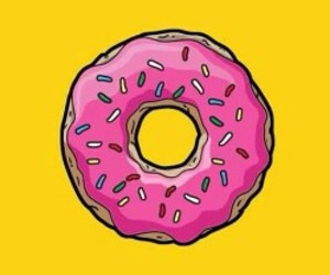 background, donut, and wallpaper image