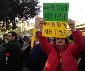 feminism, fora temer, and women's march image