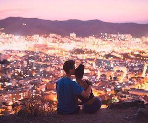 Barcelona, couple, and romance image