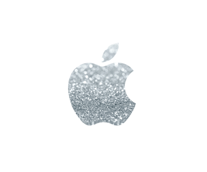 apple, glitter, and wallpaper image
