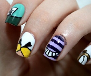 alice in wonderland, mad hatter, and nails image