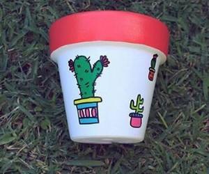 cactus, garden, and handmade image