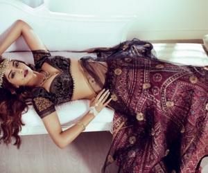india, saree, and beauty image