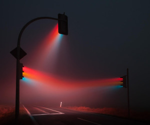 light, night, and red image