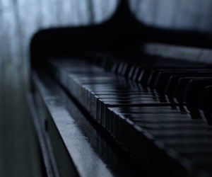 piano, black, and music image