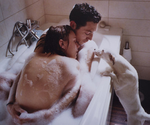 bath, couple, and pale image