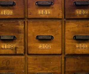 brown, numbers, and drawers image