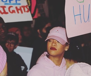 rihanna, women's march, and feminism image