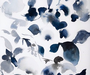blue, art, and flowers image
