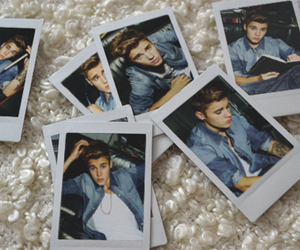 justin bieber, JB, and polaroid image
