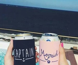 summer, mermaid, and captain image