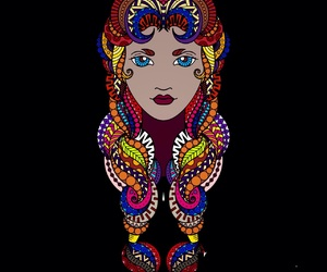art, colors, and africanbeauty image