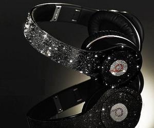 beats, headphones, and black image