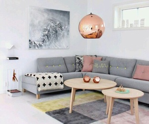 decor, grey, and pink image