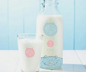 milk, blue, and pastel image