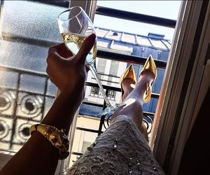 luxury, dress, and champagne image