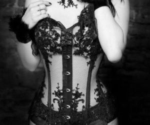 corset, sexy, and gothic image