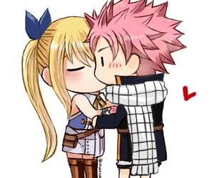 anime, couple, and nalu image