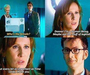 doctor who, donna noble, and david tennant image