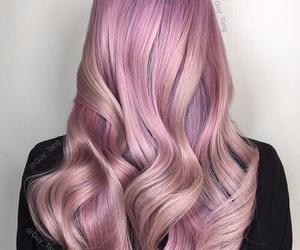 hair, pink, and goals image