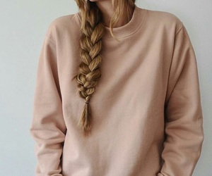 braid, hair, and side braid image