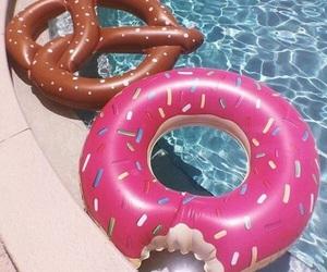 donut, pretzel, and summer image