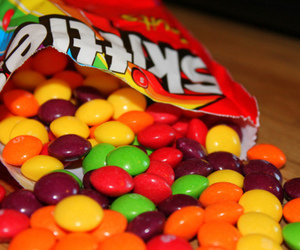 skittles, food, and candy image