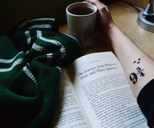 harry potter, book, and slytherin image