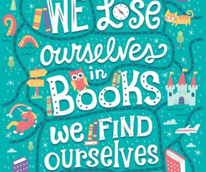 book, illustration, and quote image