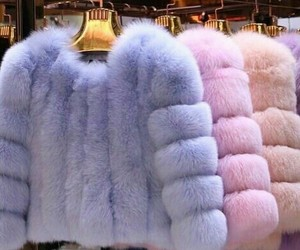 pink, fur, and blue image