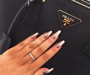 nails, Prada, and bag image