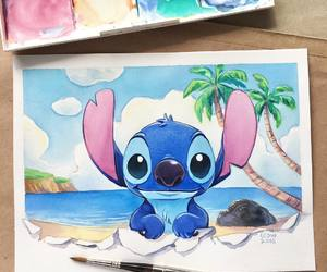 disney, art, and stitch image