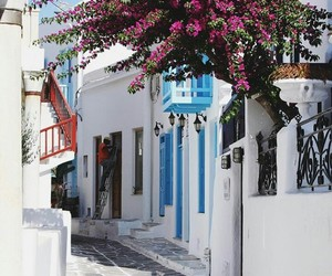 flowers, Greece, and holiday image